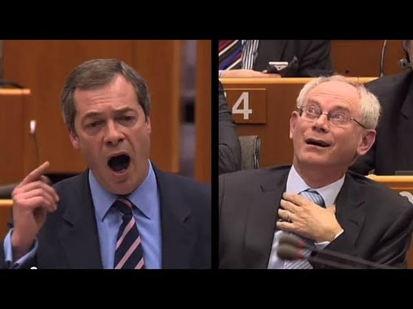 Nigel Farage insults Herman van Rompuy calls EU President a DAMP RAG