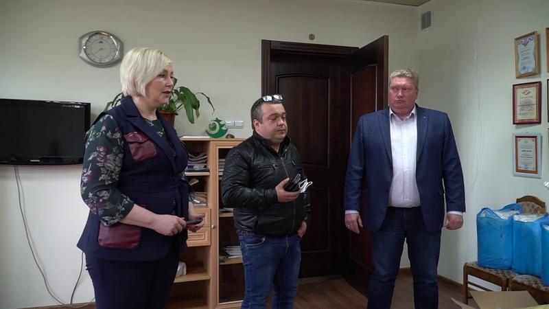 Передача медицинских масок и костюмов химзащиты для Кольчугинской ЦРБ 18 мая 2020 года