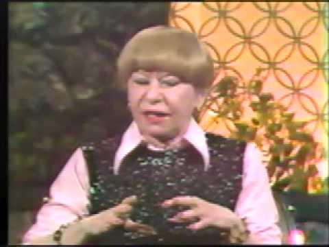 Selma Diamond's comedy routine Aging on Celebrity Cabaret 1977