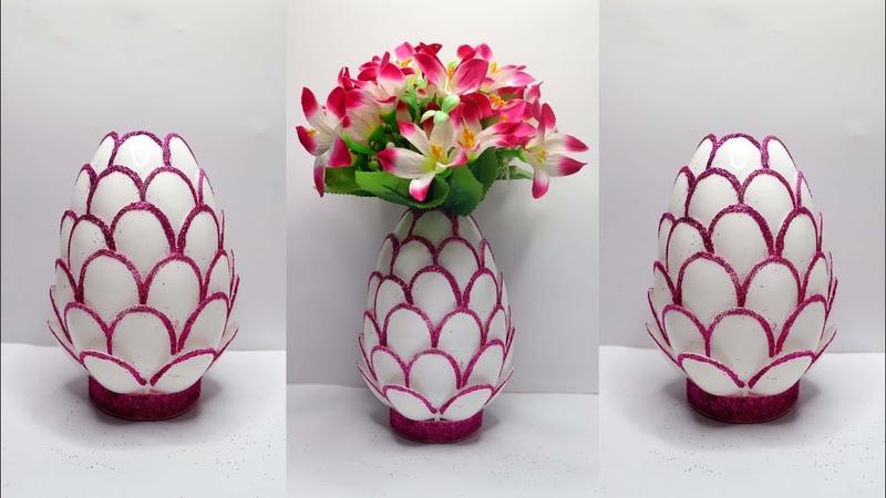 Ide Kreatif Vas bunga dari Sendok Plastik Plastic spoon craft idea