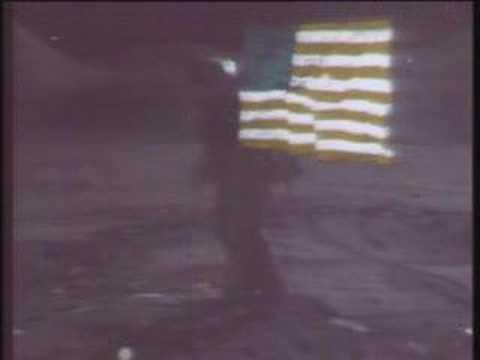 Apollo 15 flag waving
