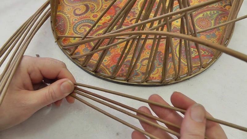 Веревочка из 4 х трубочек перед двумя за две Плетение из газетных трубочек
