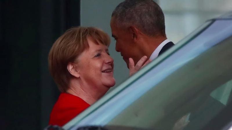 POLITISCHER POPSTAR Obama besucht Berlin und Kanzlerin Merkel
