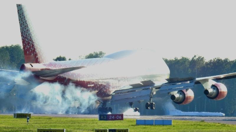 Боинг 747 фантастический заход Авиакомпания Россия