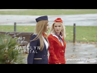 [Private] Lika Star, Marilyn Crystal - Air Hostesses Arrive Home with a Bang