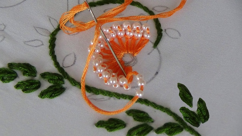 Hand Embroidery Buttonhole Chain​ Stitch