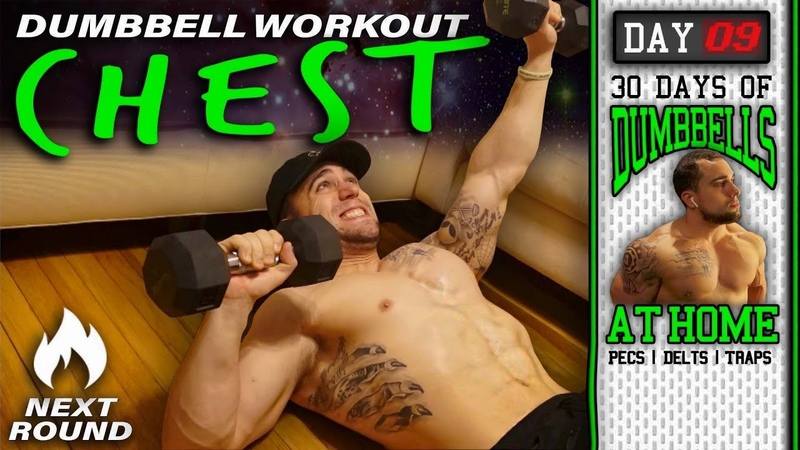 Chest Workout At Home With Dumbbells 30 Days to Build Pecs Delts Trap Muscles Dumbbells Only