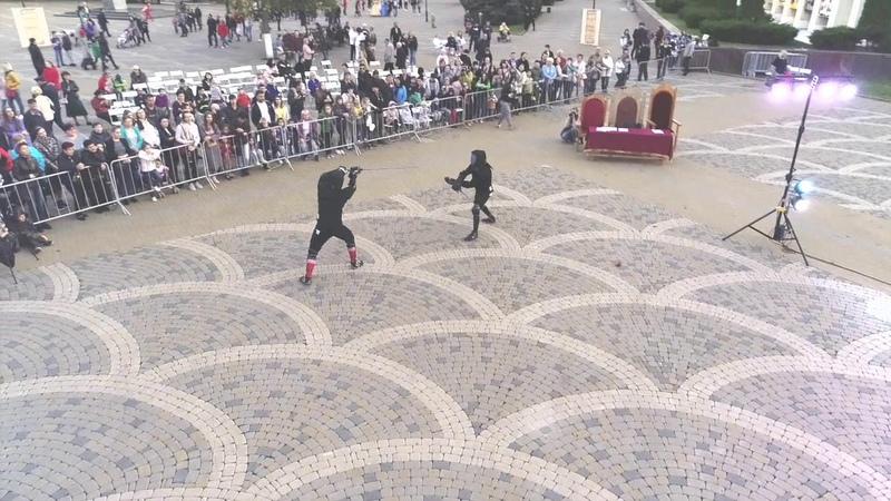 Краснодарская Гильдия Фехтование Выступление на фестивале Эфес Кубани 2019