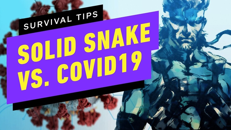 Solid Snake's COVID 19 Survival Tips Up at Noon