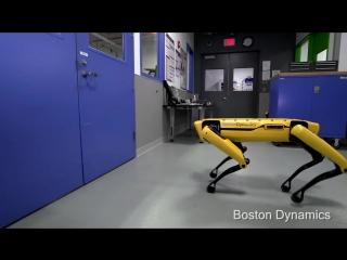 Хэй, парень, не откроешь мне двери? (Boston Dynamics)