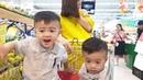 BOZIN đi siêu thị với mẹ và bố BOZIN goes to the supermarket with Mom and Dad