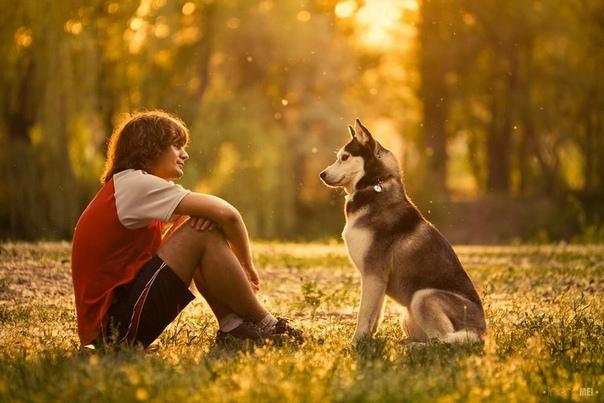 Человек и пес Парень лет восемнадцати шел по парку. Он слегка приволакивал обе ноги, отчего его походка выглядела немного странно. Но спина его была ровной, шаг уверенный, взгляд прямой и