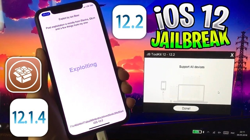 ROOT JB Tool NEW iOS 12 2 12 1 4 and all 12 X Support Cydia Fixed