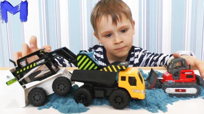 Машинки для детей Джокер рассыпал песок а Макс открывает новые игрушечные машинки