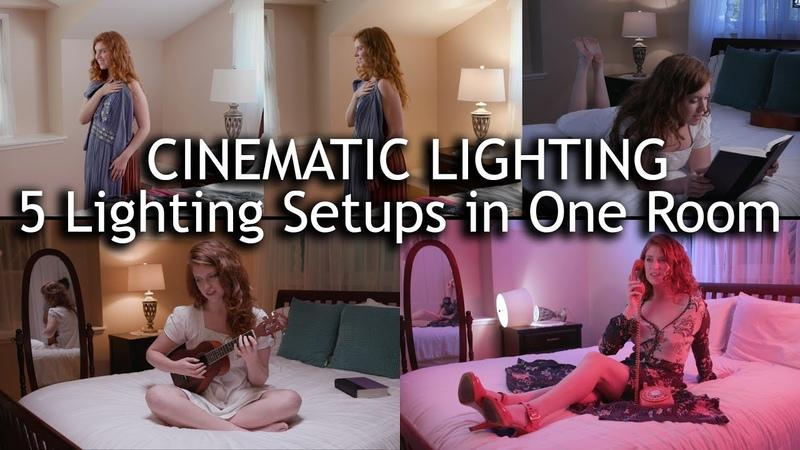 Cinematic Lighting 5 Lighting Setups in 1 Room with Intellytech LiteCloth