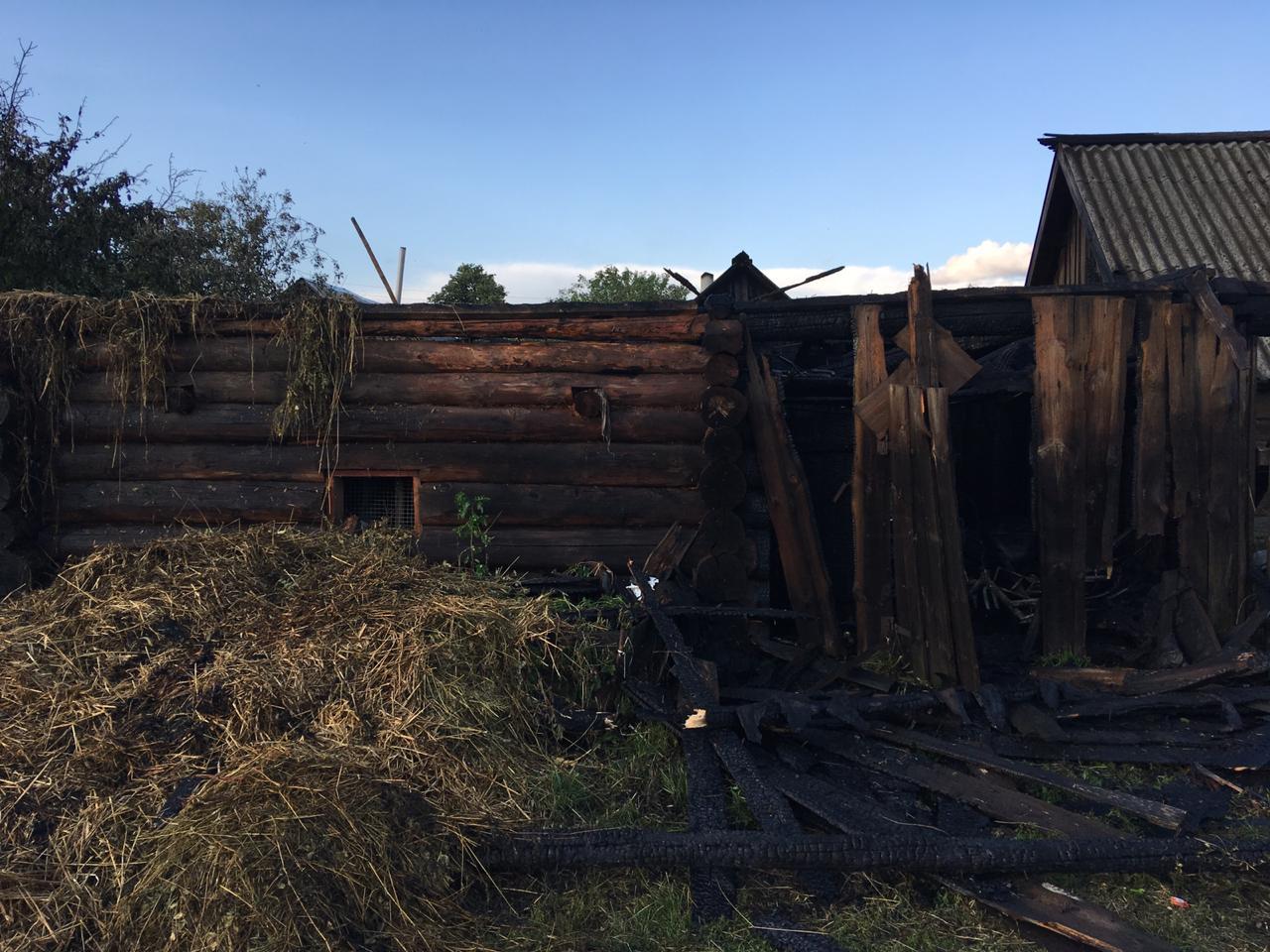 В Марий Эл трое дошколят спалили сарай