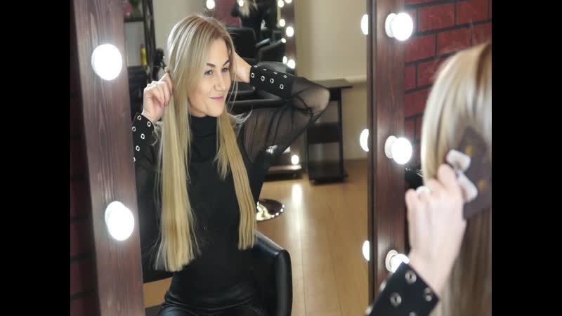 Окрашивание ленточное наращивание волос. Студия красоты Mari Hair