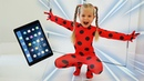 Diana as Ladybug jumped out of the tablet