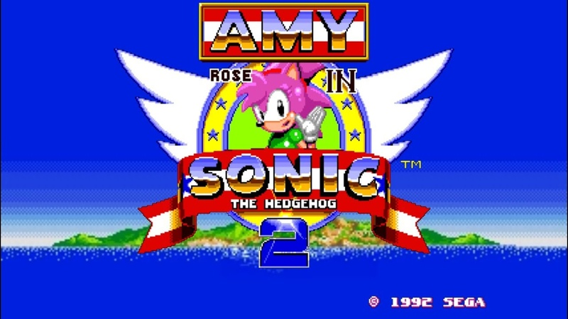 Amy Rose in Sonic 2 ✪ Sonic Hacks   Gameplay 2019