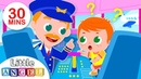 Baby Goes on an Airplane   Baby at the Airport, Flight   Kids Songs Nursery Rhymes by Little Angel