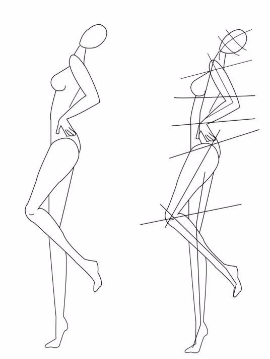 Учимся рисовать фигуру в движении для fashion-эскиза.