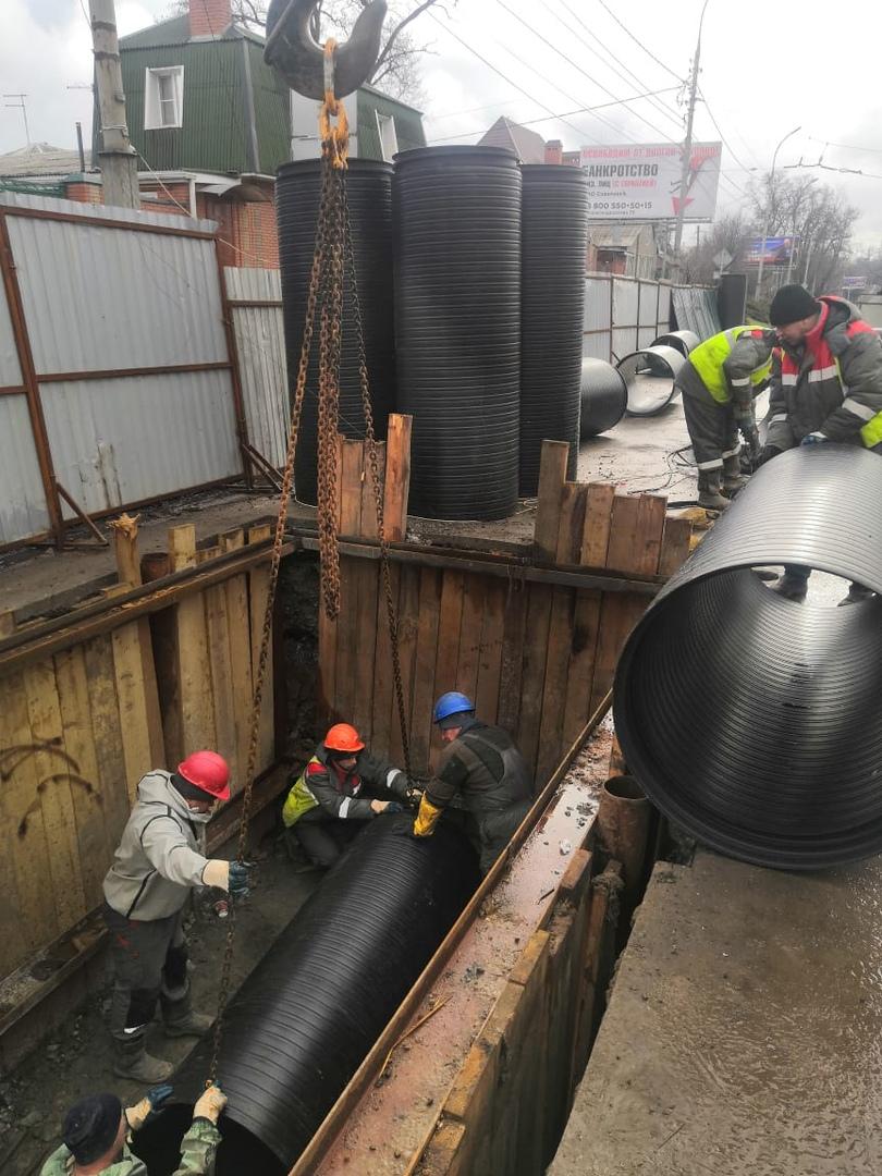 Водоканал Таганрога обещает раньше срока открыть для движения улицу Дзержинского