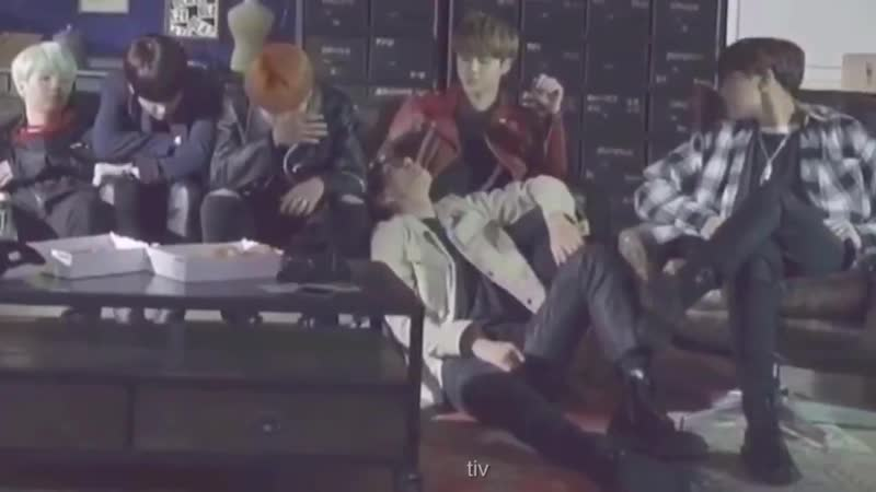 A vid where taehyung slept on jin's laps and jin caressed his head with a loving eyes exist
