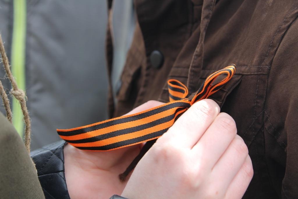 С 25 апреля в Курске будут раздавать георгиевские ленточки