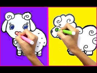 How to draw a Sheep for Kids. Sheep Easy Draw Tutorial. Easy drawings for Kids.