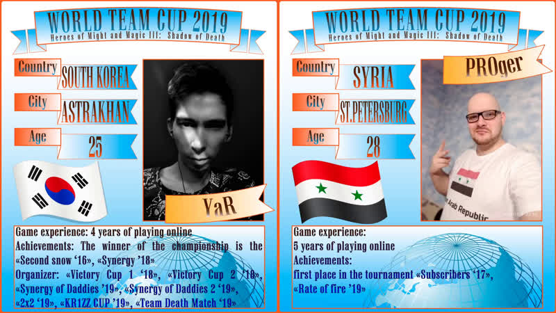 84. HoMM3. SoD. YaR (South Korea) vs PROger (Syria). WTC 2019