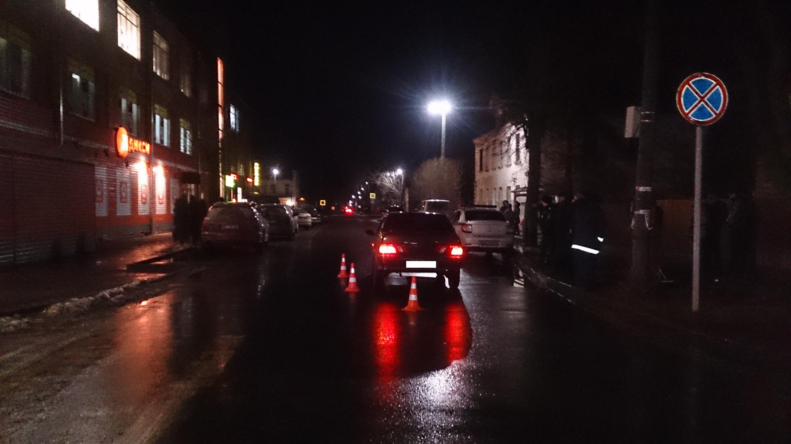 На пересечении улиц Кирова и Ленина в Кимрах ВАЗ наехал на 16-летнего пешехода