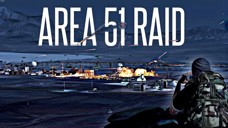 AREA 51 RAID! - ArmA 3 Insane PVP Event (they cant stop all of us!)