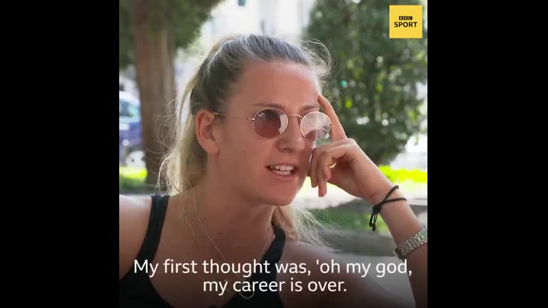 The first initial thought was Im never going to play tennis again But @vika7 proved herself wrong and now feels stronger
