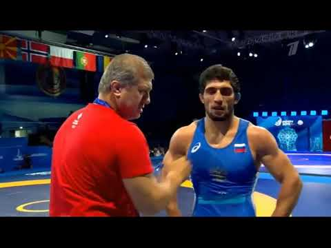 86кг Гостиев Александр (Азербайджан) - Куруглиев Даурен (Россия) вольная борьба Евроигры-2019