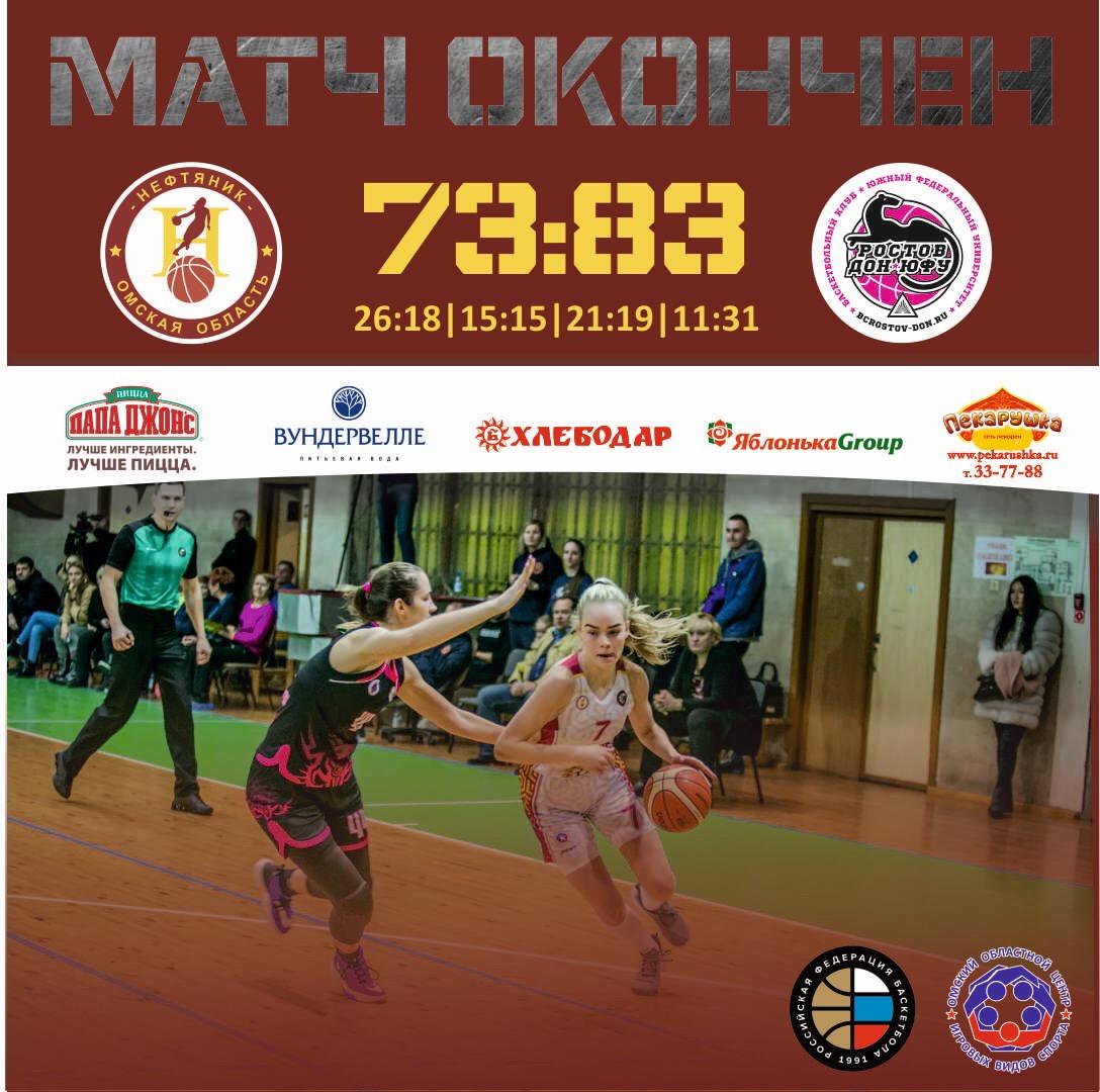«Нефтяник» - «Ростов-Дон-ЮФУ» - 73:83