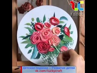 Розы в необычной технике @luckycraft  ПОДПИШИСЬ!
