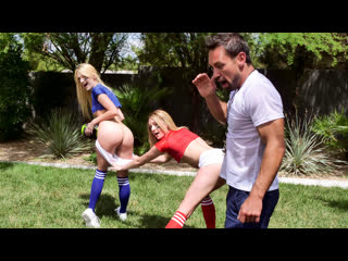 TeamSkeet Charlotte Sins, Kenna James - Stepsister Football Fuckers NewPorn2019