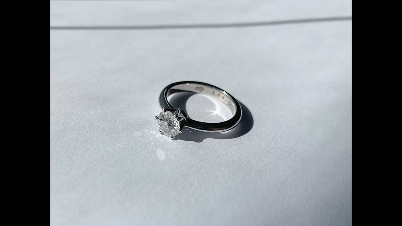 Engagement Diamond White Gold Ring Showing how it was made