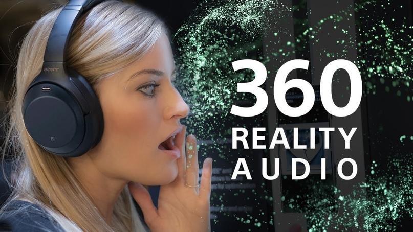Наушники Sony WH-1000X и технология 360 Realty Audio