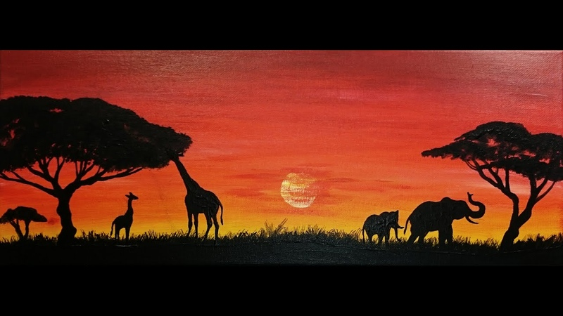 Savana painting African SPEED painting