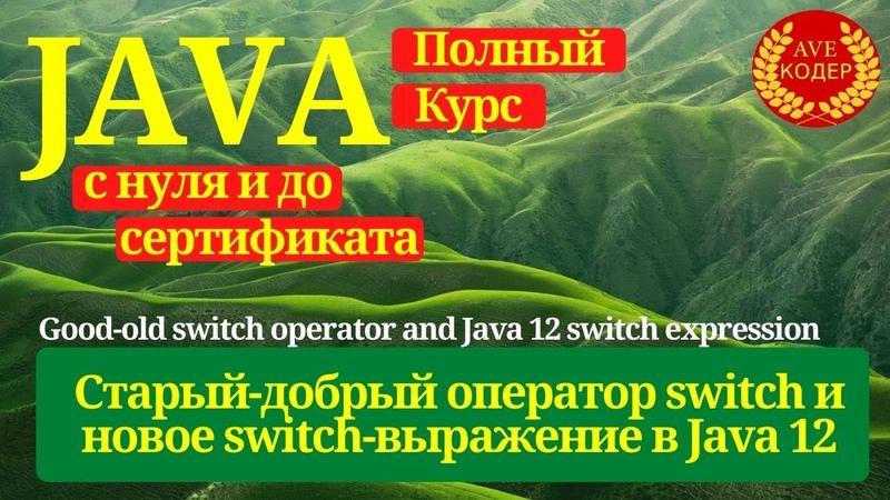 11 - Основы Java - Оператор switch и switch выражение в Java 12