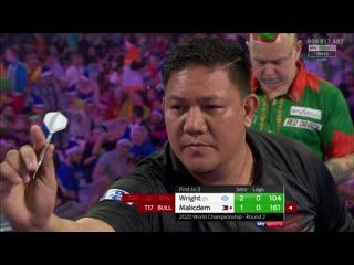 Peter Wright vs Noel Malicdem (PDC World Darts Championship 2020 / Round 2)