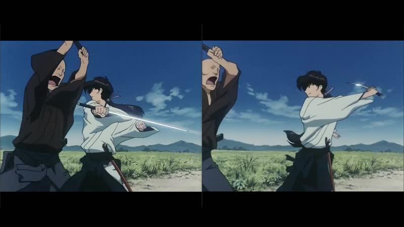Kazemakase_tsukikage_ran (artist: takeshi_koike) with Anime4K upscaling