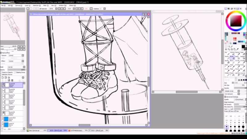 Paint Tool SAI Speedpaint S u b s p a c e ☽ Original Full Process by Hoshi Pan
