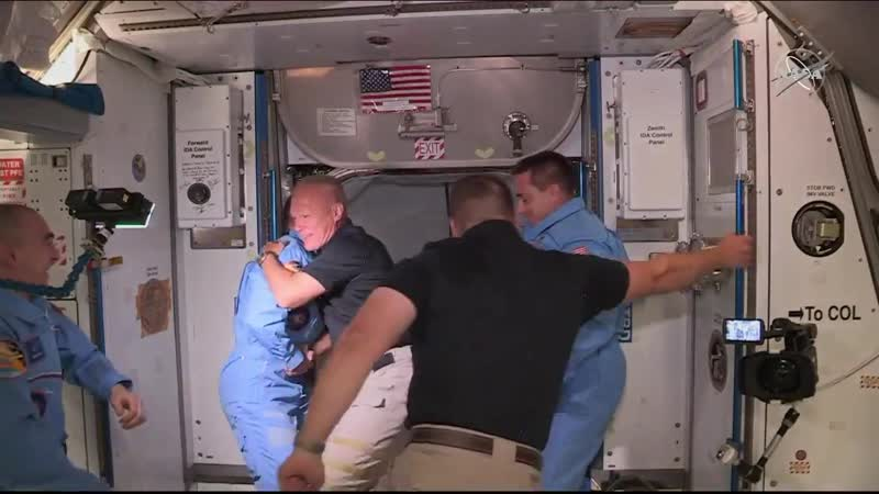 This is the first time in human history NASA Astronauts have entered the Space Station from a commercially made spacecraft