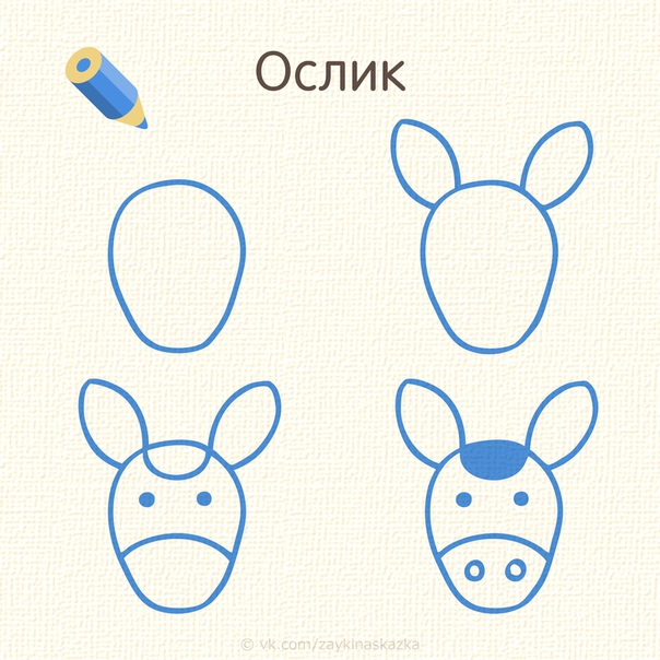 РИСУЕМ МОРДОЧКИ ЗВЕРУШЕК Простые уроки рисования для малышей