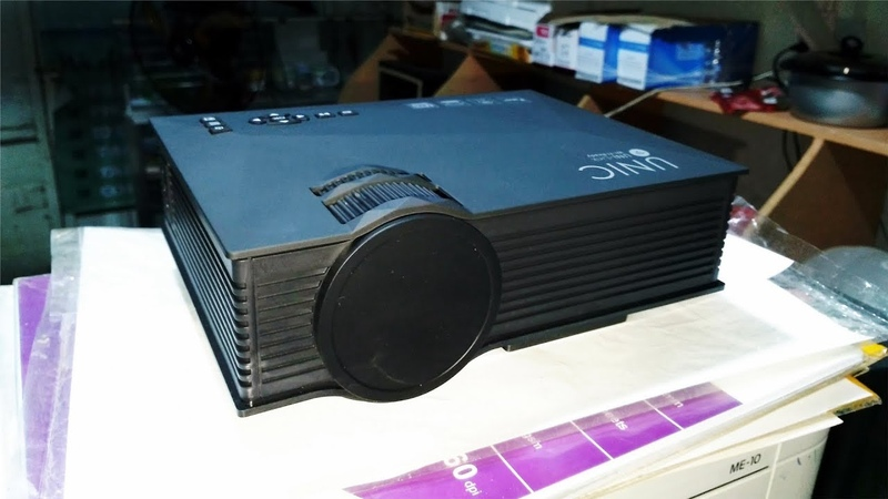 UNIC UC68 MULTIMEDIA HOME THEATER 1800 LUMENS Projector Unboxing and Testing