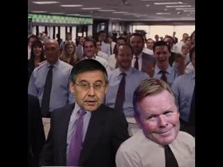 Барса наблюдает за решением Месси