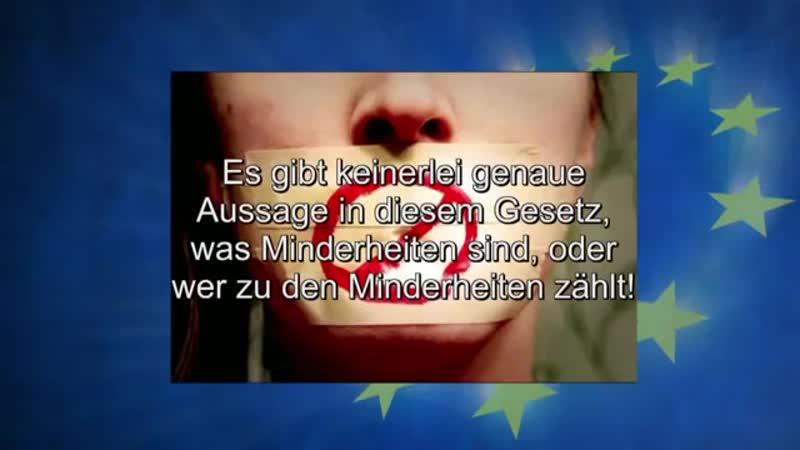 NWO Die EU Maske fällt Erstes Land führt TOLERANZ Gesetz ein