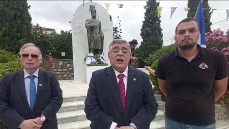 Δηλώσεις Ν Γ Μιχαλολιάκου από το μνημείο του Κων 963